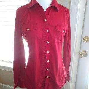 Converse Long Sleeve Red Shirt, Small